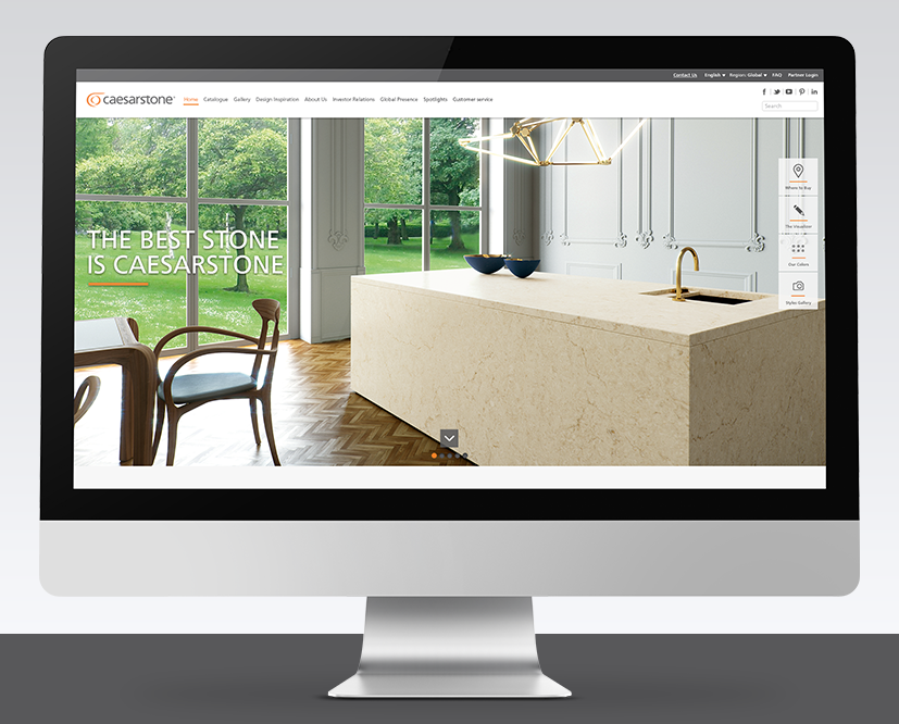 Caesarstone - Redesigning the Corporate Marketing Website