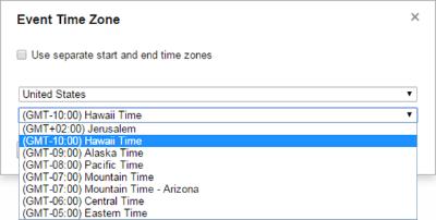 פתרון מצויין לאפיון ממשק - בחירת אזור זמן בשני שלבים