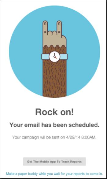 מידע יעיל וחריגה מהתבניות הרגילות - הודעת האישור של mailchimp